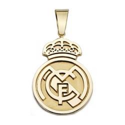 Colgante escudo Real Madrid oro de ley 18k 36mm. [AA2617]