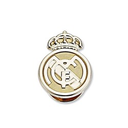 Pin escudo Real Madrid oro de ley 9k 16mm. liso [8474]
