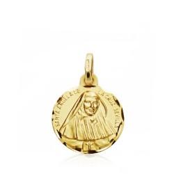 Medalla oro 18k Santa Ángela Cruz [AB0795GR]