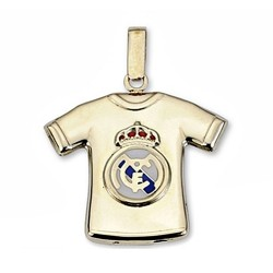 Colgante Real Madrid oro de ley 9k camiseta estampada escudo [6498]