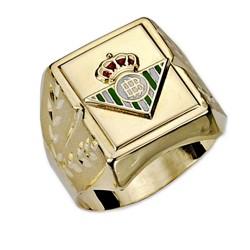 Sello escudo Real Betis oro de ley 9k caballero esmalte [8708]