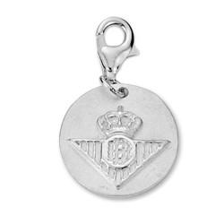 Chamrs escudo Real Betis plata de ley redondo [8635]