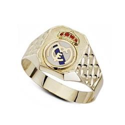 Sello escudo Real Madrid oro de ley 18k labrado hueco esmalte [6465]