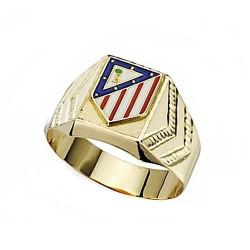 Sello escudo Atlético de Madrid oro de ley 9k caballero hueco [7009]
