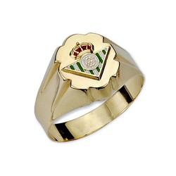Sello escudo Real Betis oro de ley 9k cadete hueco [8717]