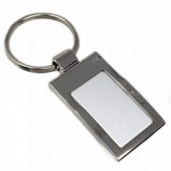 Llavero acero 45mm. rectangular [AB5551GR]