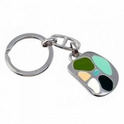 Llavero metal 29mm. colores verdes ovalado [AB5562GR]