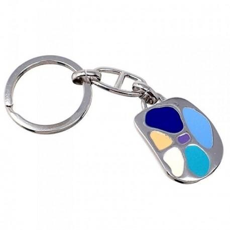 Llavero metal 30mm. colores azules ovalado [AB5563GR]