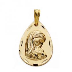 Medalla oro 9k Virgen Niña 21mm. [AA0832GR]