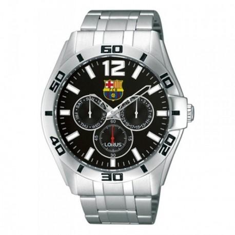Reloj F.C. Barcelona Lorus hombre plateado negro RP629BX9 [AB5882]