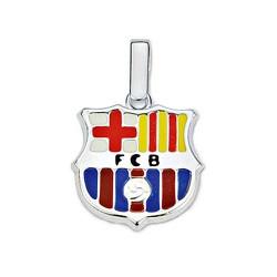 Colgante escudo F.C. Barcelona Plata de ley 16mm. esmalte [8459]