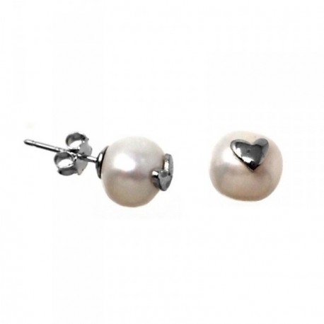 Pendientes plata Agatha Ruiz de la Prada perlas 8mm. blancas [AB5648]