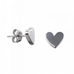 Pendientes plata Agatha Ruiz de la Prada 9mm. corazón [AB5687]