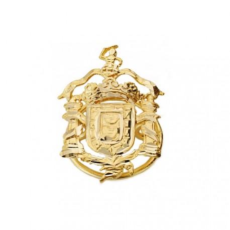 Pin solapa oro 18k escudo Melilla 20mm.  [AA1997]