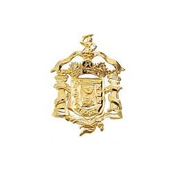 Pin solapa oro 18k escudo Melilla 20mm.  [AA1999]