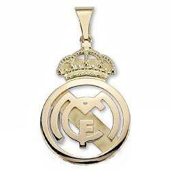 Colgante escudo Real Madrid oro de ley 9k 40x26 liso calado [6456]