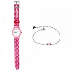Juego Agatha Ruiz de la Prada reloj AGR200 pulsera plata [AB6003]