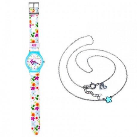 Juego Agatha Ruiz de la Prada reloj AGR202 colgante plata [AB6005]
