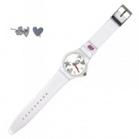 Juego Agatha Ruiz de la Prada reloj AGR216P pendientes plata [AB6019]