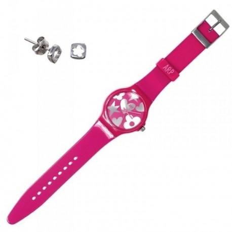 Juego Agatha Ruiz de la Prada reloj AGR217P pendientes plata [AB6020]