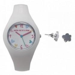 Juego Agatha Ruiz de la Prada reloj AGR227 pendientes plata [AB6030]