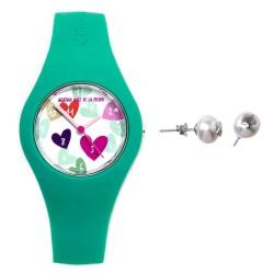 Juego Agatha Ruiz de la Prada reloj AGR224 pendientes plata [AB6027]