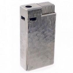 Mechero metálico recargable gas electrónico 6cm. brillo [AB5842]