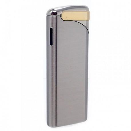 Mechero metálico recargable gas electrónico 6.5cm. dorado [AB5845]