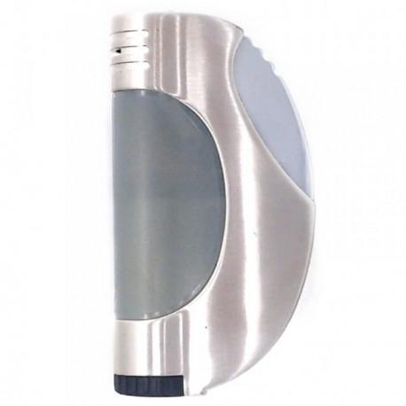 Mechero metálico recargable gas electrónico 7cm. mate [AB5846]