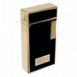 Mechero metálico recargable gas electrónico 6cm. dorado [AB5847]
