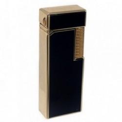 Mechero metálico recargable gas electrónico 6.5cm. dorado [AB5848]