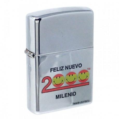 Mechero metálico FELIZ NUEVO 2000 MILENIO 5.7cm. recargable [AB5853]