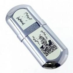 Mechero metálico recargable gasolina piedra 7cm. barcos [AB5855]