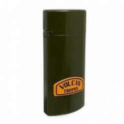 Mechero metálico recargable gasolina piedra 6.5cm. verde [AB5867]