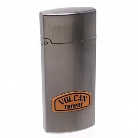 Mechero metálico recargable gasolina piedra 6.5cm. gris [AB5870]