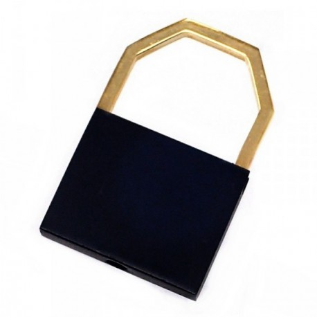 Llavero metal dorado 4.5cm. cuadrado [AB6032]