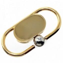 Llavero metal dorado 5.5cm. ovalado [AB6033]