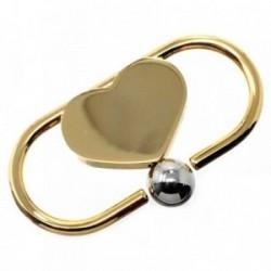 Llavero metal dorado 5.5cm. corazón [AB6034]