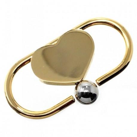 Llavero metal dorado 5.5cm. corazón [AB6034GR]