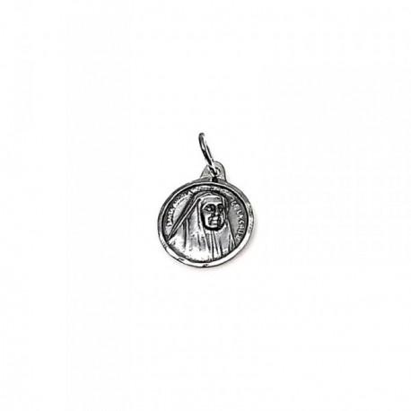 Colgante plata ley 925m 19mm. medalla Ángela Cruz [AA8342GR]