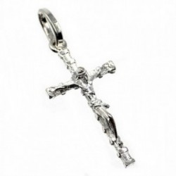 Cruz crucifijo plata Ley 925m Cristo realce 34mm. [AB5212]