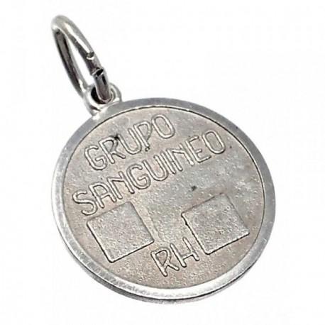 Chapa plata Ley 925m oxidada redonda 12mm. grupo  [AB5536]