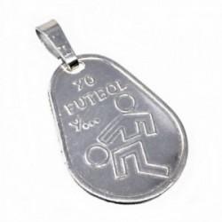Chapa plata Ley 925m oval 23mm. YO FÚTBOL Y... [AB5606]