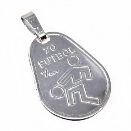 Chapa plata Ley 925m oval 23mm. YO FÚTBOL Y... [AB5606GR]