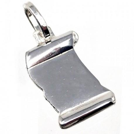 Chapa plata Ley 925m pergamino 19mm. [AB5607GR]