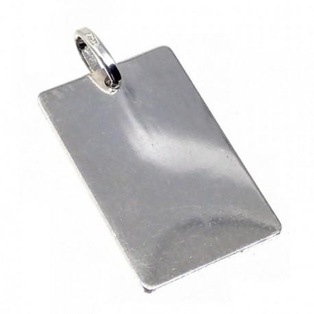 Chapa plata Ley 925m lisa 30mm. [AB5609GR]