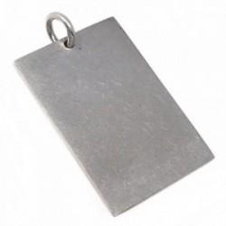 Chapa plata Ley 925m lisa 30mm. [AB5610]