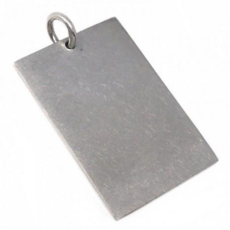 Chapa plata Ley 925m lisa 30mm. [AB5610GR]