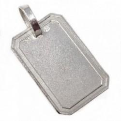 Chapa plata Ley 925m enmarcado 19mm. [AB5612]