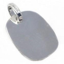 Chapa plata Ley 925m cuadrada 17mm. bordes redondos [AB5614GR]